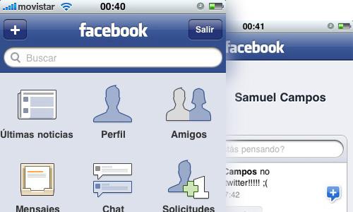 App de Facebook para iPad