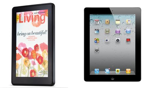 El iPad y el Kindle Fire de Amazon