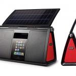 Parlante con panel solar para el iPod