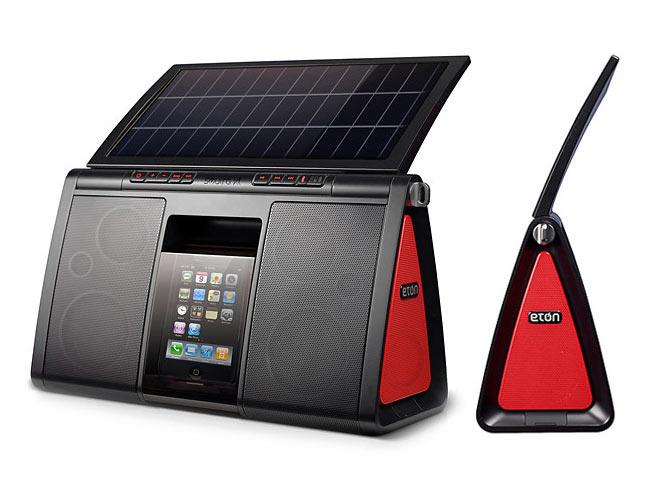parlante panel solar