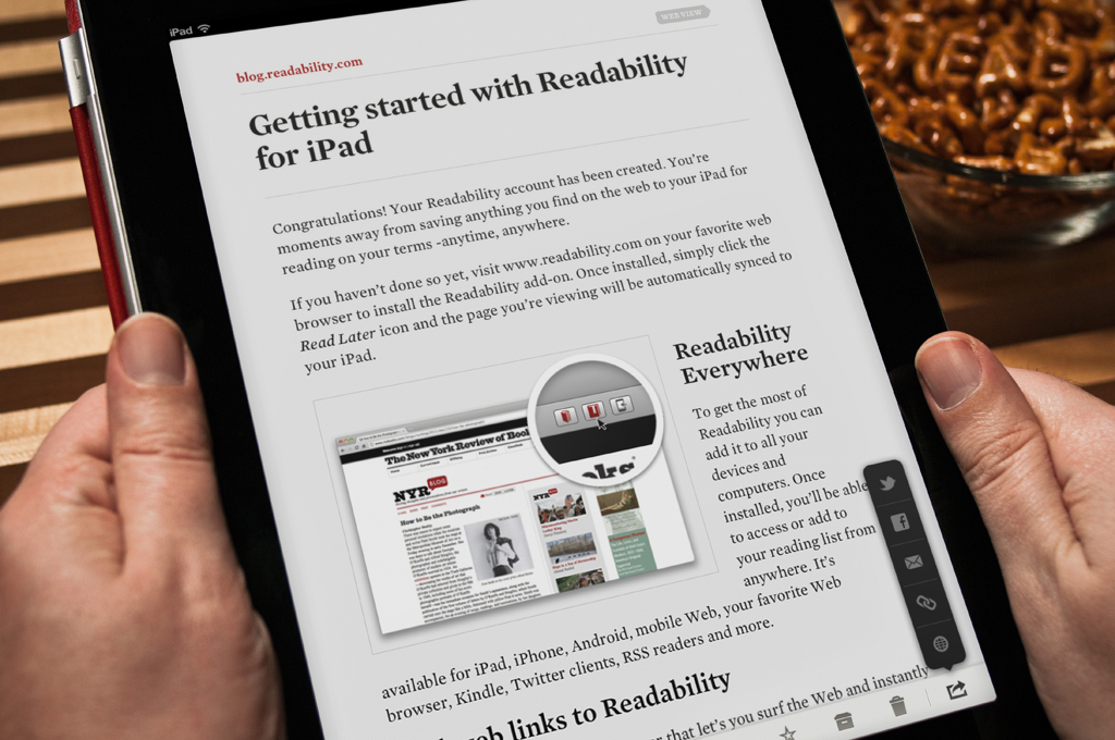 Readability, una de las apps favoritas de los usuarios